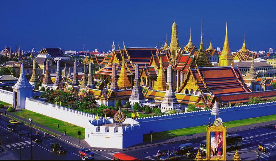 Teren Wielkiego Pałacu w Bangkoku